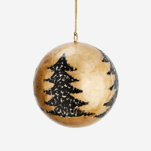 Vánoční baňka Trees Gold - 4 cm