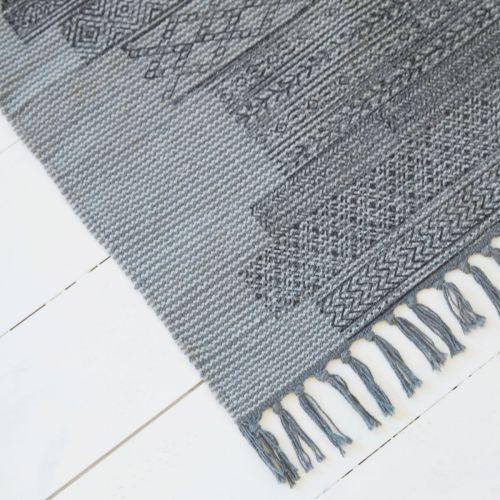 Bavlněný kobereček Karma Grey 60x90 cm