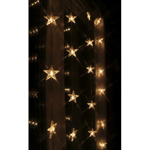 Světelný řetěz-závěs s hvězdičkami