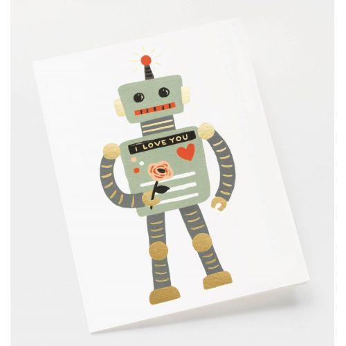 Přání s obálkou Love Robot