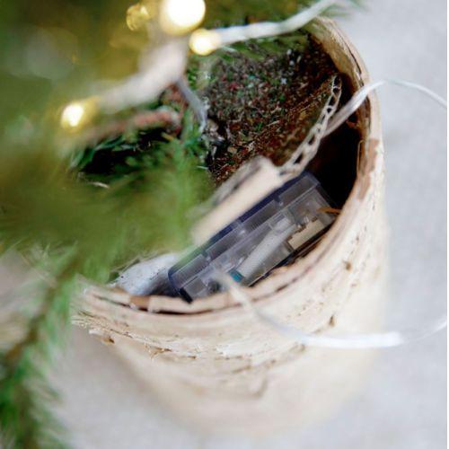 Vánoční stromek se světýlky 44cm