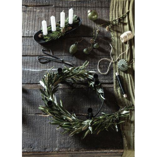 Vánoční baňka Pebbled Glass Olive