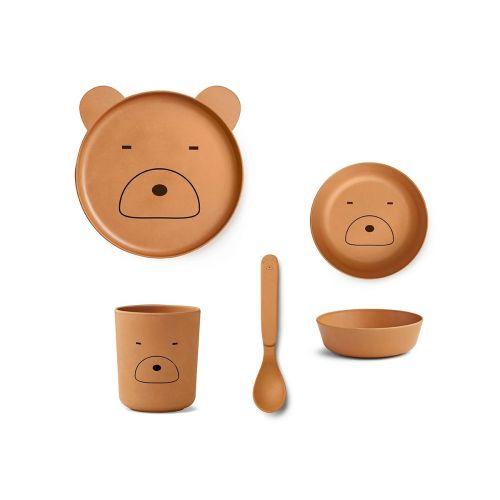 Sada dětského nádobí Mr. Bear Mustard