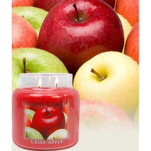 Svíčka ve skle Crisp apple - střední