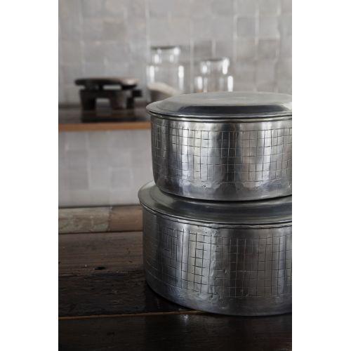 Hliníková dóza Noova Silver 14 cm