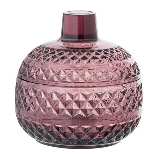 Skleněná dóza Purple Glass