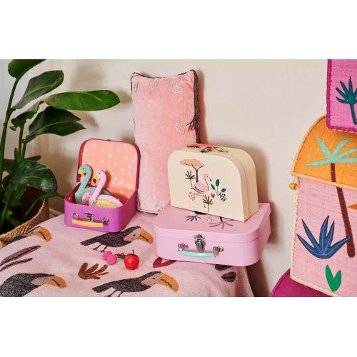 Dětský kufřík Jungle Animals Pink Tones
