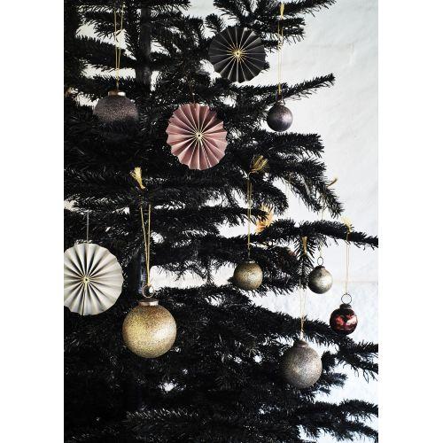 Papírová vánoční ozdoba Rosette Aubergine - set 2 ks