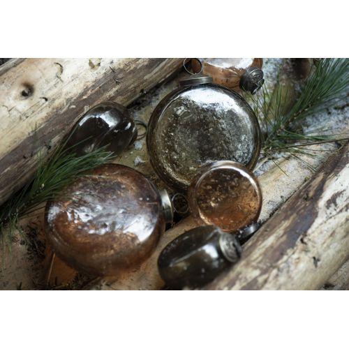 Vánoční baňka Flat Pebbled Glass Amber