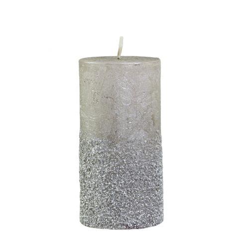 Svíčka Glitter Champagne 12cm