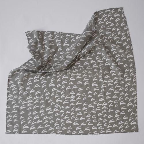 Dětská mušelínová plenka Rabbit Grey