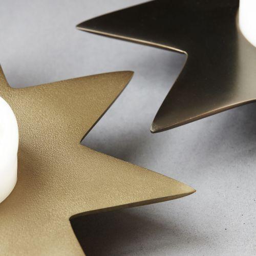 Vánoční svícen Gold Star 22 cm