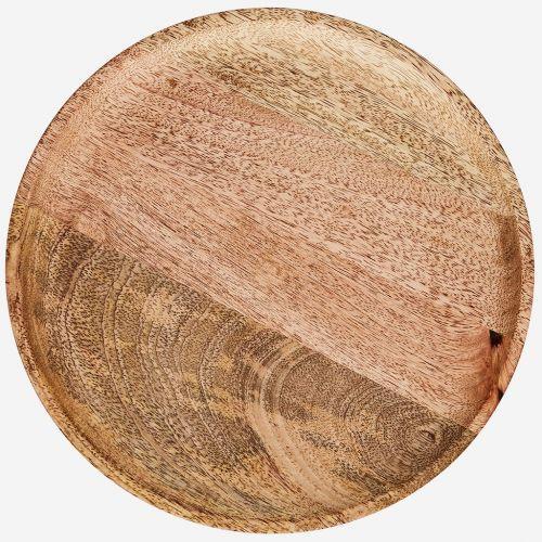 Dřevěný tác Natural Mango Wood Ø 35 cm