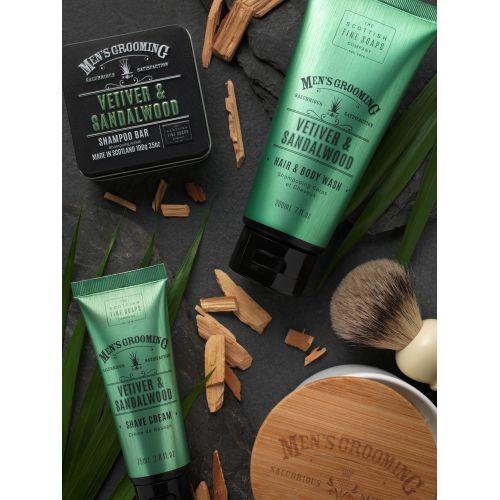 Pánský tuhý šampon Vetiver a santalové dřevo 100g