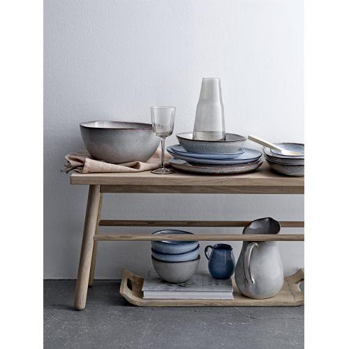Hluboký keramický talíř Sandrine Grey