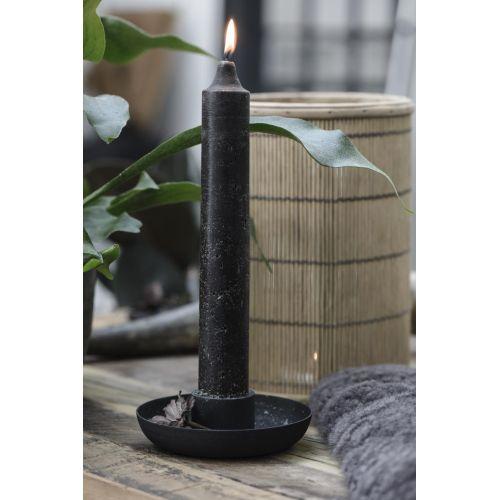 Vysoká svíčka Rustic Black 25 cm