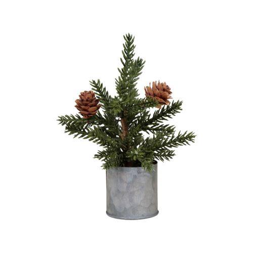 Dekorativní stromeček Pine Tree Zinc Pot 16 cm