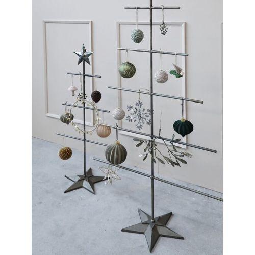 Velurová vánoční ozdoba Ball Latte 11 cm