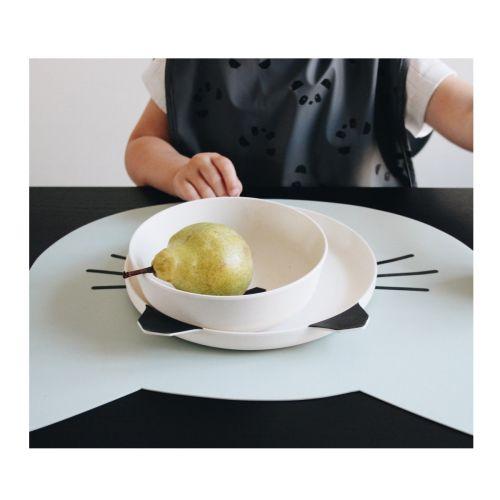 Sada dětského nádobí Panda Cream White