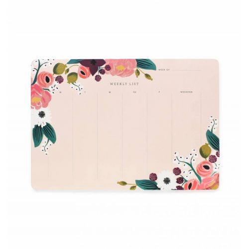 Stolní týdenní plánovač Pink Floral