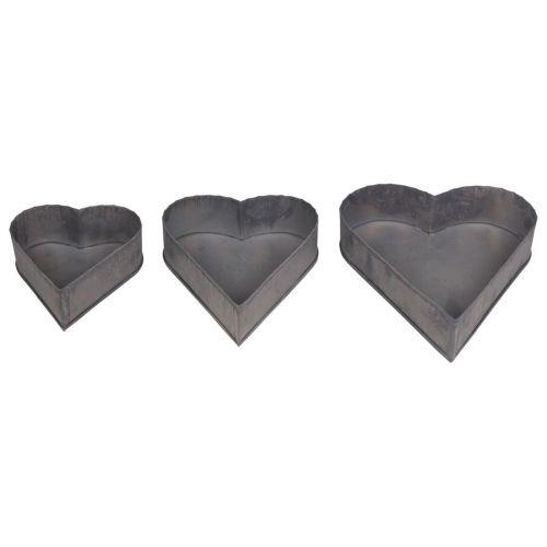 Zinkový dekorativní tác Heart