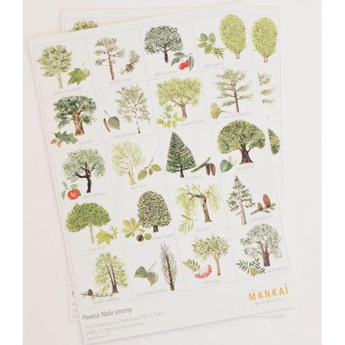 Papírové pexeso Stromy