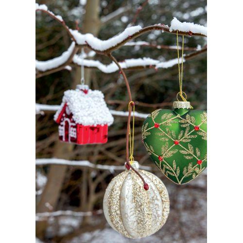 Skleněná vánoční baňka Antonia Sparkling 8 cm