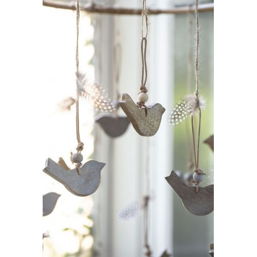 Závěsná dekorace Bird Natural