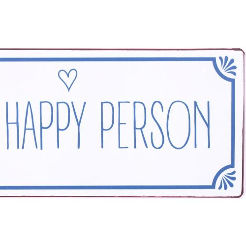 Plechová cedule Happy person
