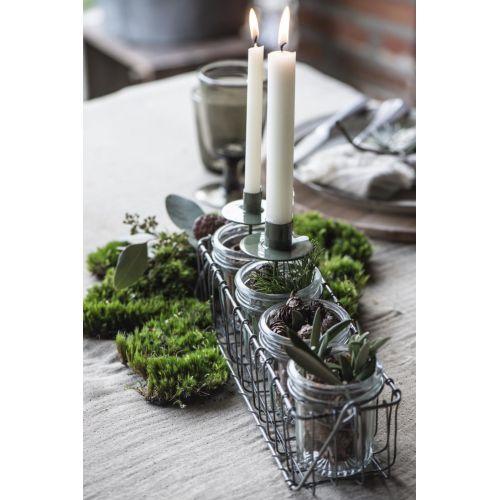 Zapichovací svícen na vysokou svíčku Green