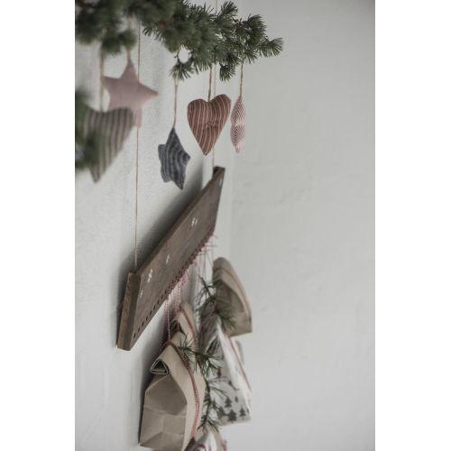Látkové srdíčko My Nostalgic Christmas 9 cm
