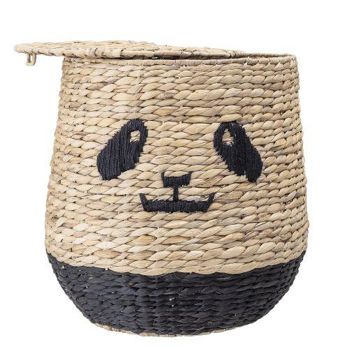 Slaměný koš s víkem Panda