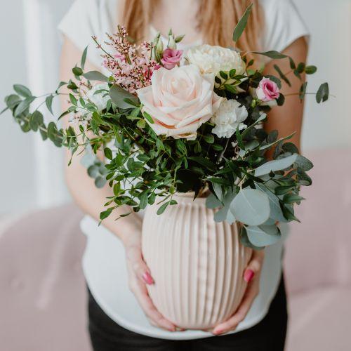 Keramická váza Hammershøi Rose 20 cm
