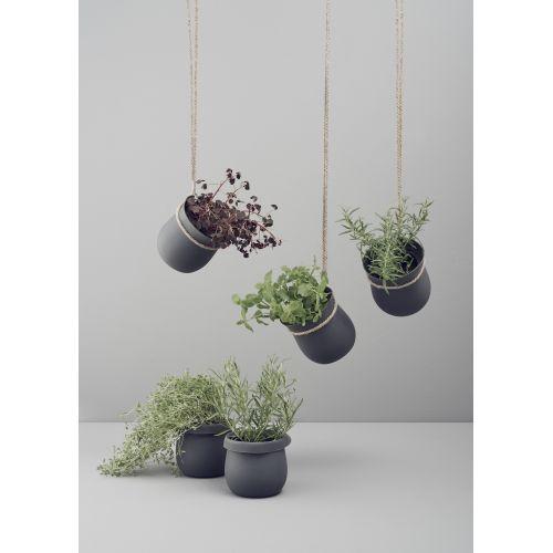 Závěsný silikonový květináč Grow-it Grey