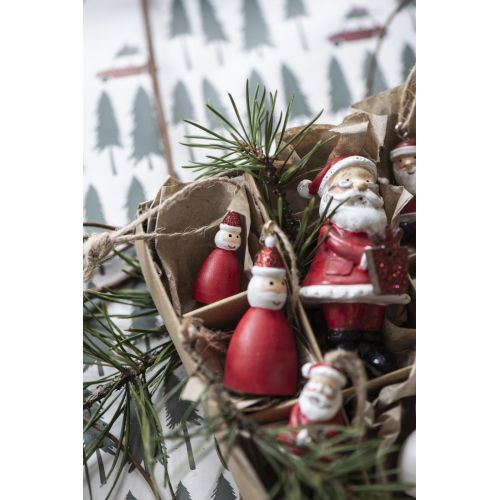 Závěsná ozdoba Santa Claus Glitter 3,5 cm