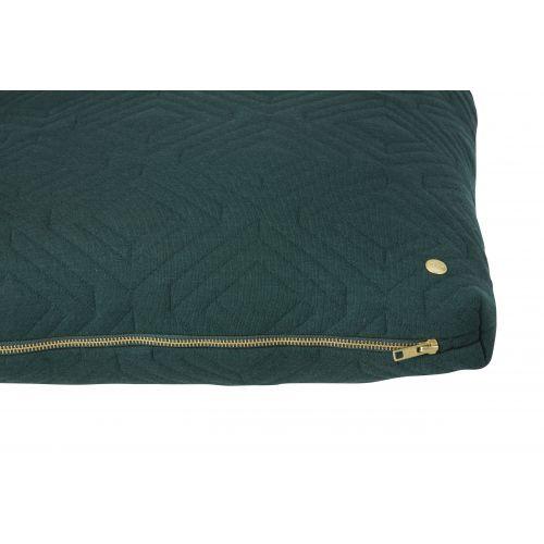 Prošívaný polštář Dark green 45x45 cm