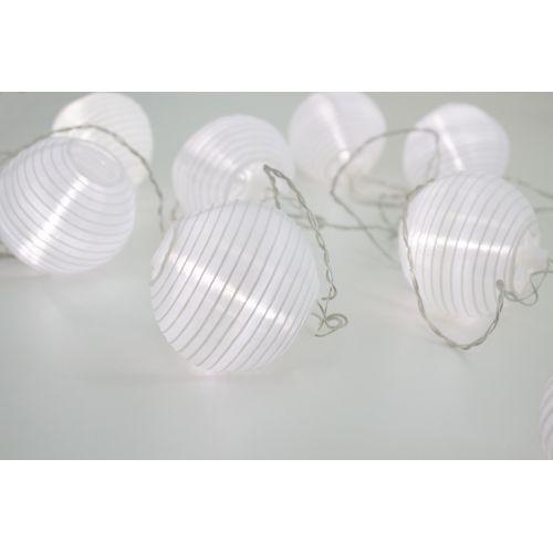 Světelný lampionový LED řetěz Party White