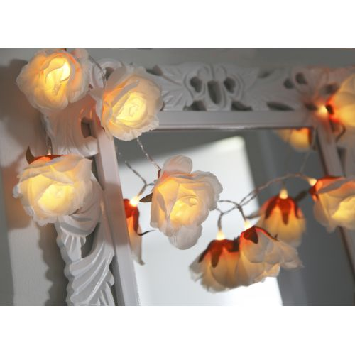 Dekorativní světelný LED řetěz Flower Rose