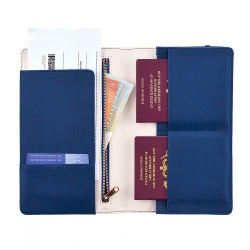 Cestovní peněženka Blue & Dots