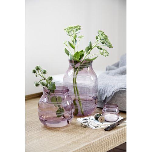 Skleněný svícen / váza Omaggio Plum 7,5 cm