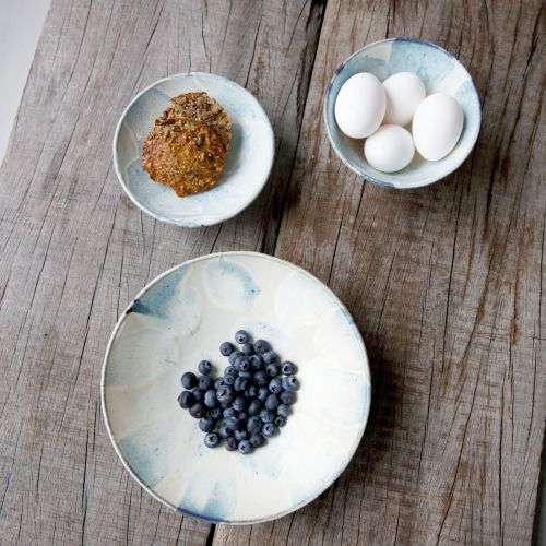 Keramická miska Mio White/blue