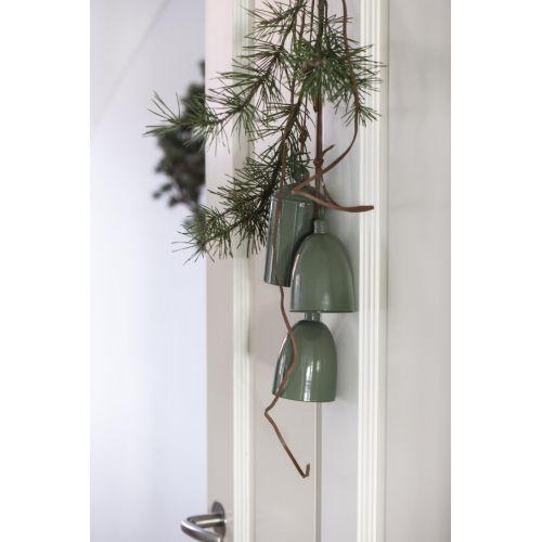 Kovový zvoneček Conical Green