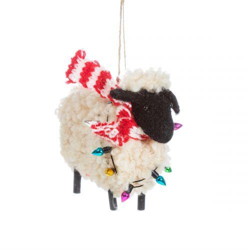 Vlněná vánoční ozdoba Sheep in Scarf