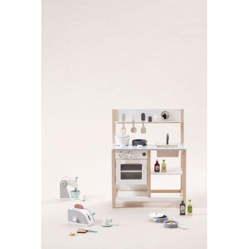 Dřevěná kuchyňka na hraní Natural White Bistro