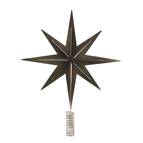 Vánoční hvězda na stromeček Gunmetal 31 cm