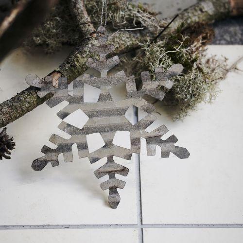 Vánoční ozdoba Silver Snowflake 11,7 cm