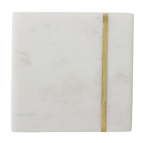 Mramorové podtácky White Marble - set 4 ks