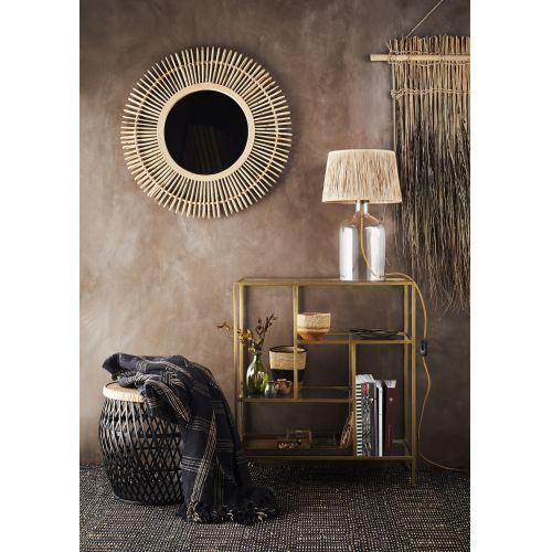 Bavlněný pléd Black Checked 125 × 150 cm