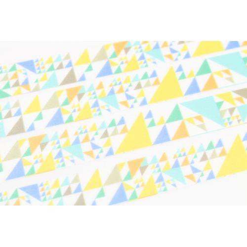 Designová samolepicí páska Sankaku blue