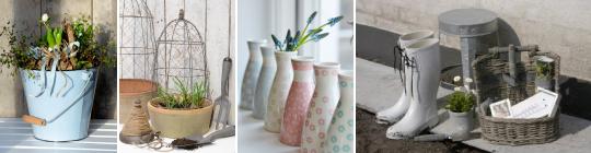 Květináče, vázy a zahradní dekorace